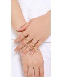 Elizabeth and James - Metallic Bauhaus 4 Finger Ring - Lyst