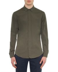 JOSEPH - Green Charles Cotton-Blend Shirt for Men - Lyst