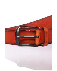 BOSS Orange - Brown Cowhide Belt 'josef' for Men - Lyst