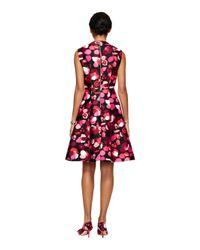 kate spade new york - Black Falling Florals V-Neck Dress - Lyst