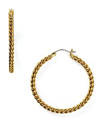 Lauren by Ralph Lauren | Metallic Twisted Link Drop Earrings | Lyst
