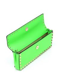 Valentino - Green Leather 'rockstud' Bangle Wristlet Clutch - Lyst