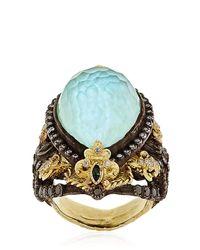 Armenta | Blue Fleurdelis Drop Ring | Lyst