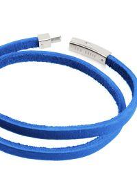 Ted Baker - Blue Flat Leather Bracelet for Men - Lyst