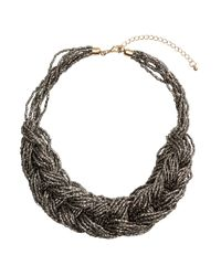 H&M | Gray Braided Necklace | Lyst