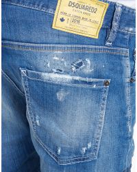 DSquared²   Blue Square Crotch Shorts for Men   Lyst