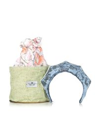 Masterpeace | Blue Koko Shnik Origami Silk-blend Headband | Lyst