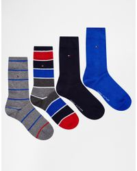 Tommy Hilfiger - Multicolor 4 Pack Socks In Gift Box for Men - Lyst