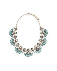 Forever 21 - Blue Rhinestone Petal Statement Necklace - Lyst