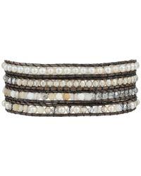 Chan Luu - 32 White Mixnatural Grey Wrap Bracelet - Lyst