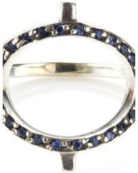 Pamela Love   Metallic Silver Sapphire Revolution Ring   Lyst