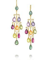Munnu - Green 22-Karat Gold Tourmaline Earrings - Lyst