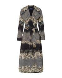 Peter Som - Blue Leopard Jacquard Coat - Lyst