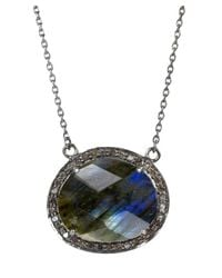 Adornia | Gray Gemstone And Champagne Diamond Fifth Ave Necklace | Lyst