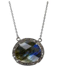 Adornia   Gray Gemstone And Champagne Diamond Fifth Ave Necklace   Lyst