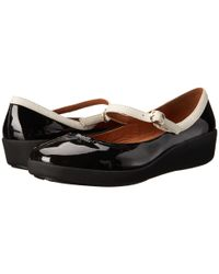 Fitflop | Black F-pop Maryjane Patent™ | Lyst