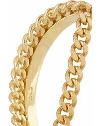 Chloé - Metallic Carly Gold Tone Bracelet - Lyst