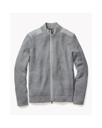 Theory - Gray Grasberg Cardigan In Cashwool for Men - Lyst