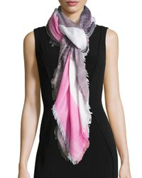 Gucci - Pink Eufrosine Colorblock Scarf - Lyst