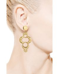 Faraone Mennella - Metallic 18k Yellow Gold Lune Earrings with Diamonds - Lyst