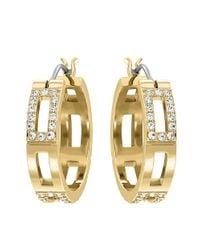 Swarovski | Metallic Cubist Crystal Hoop Earrings | Lyst