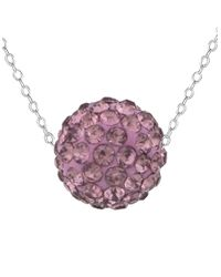 Lord & Taylor | Purple Lavender Sterling Silver And Crystal Ball Pendant Necklace | Lyst