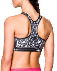Under Armour | Black Heat Gear Printed Sports Bra | Lyst