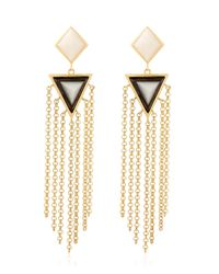 Isharya | Metallic Op Arts Earrings | Lyst
