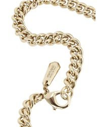 Roberto Cavalli | Metallic Rc Luxe Gold Plated Swarovski Necklace | Lyst