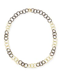 Armenta - Blue Midnight & Yellow Gold Diamond Link Necklace - Lyst