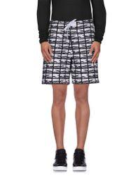 KENZO - Black Bermuda Shorts for Men - Lyst