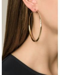Aurelie Bidermann - Metallic 'apache' Hoop Earrings - Lyst