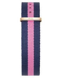 Daniel Wellington | Pink Women's Classy Rose Gold Plated Nato Fabric Strap Watch | Lyst
