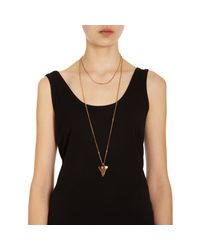 Givenchy Metallic Crystal Strass Small Shark Tooth Pendant Necklace