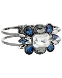 Guess | Blue Clustered Stone Hinge Bangle | Lyst