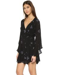 Free People - Multicolor Jasmine Embroidered Mini Dress - Lyst