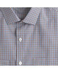 J.Crew - Ludlow Shirt In Brown Tattersall for Men - Lyst