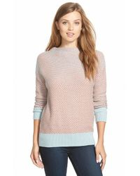 Caslon | Blue Funnel Neck Sweater | Lyst