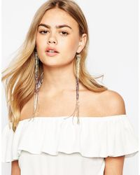 ASOS | Multicolor 70S Long Seadbead Strand Earrings | Lyst