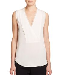 Theory | White Taneah Silk Top | Lyst