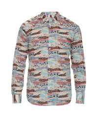 Bevilacqua | White David Floral-print Cotton Shirt for Men | Lyst