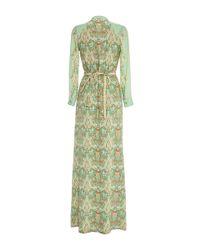 Vilshenko - Green Maxine Ornate Trim Silk Shirtdress - Lyst