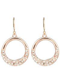 Alexis Bittar - Metallic Rose Goldtone Pave Circle Earrings - Lyst