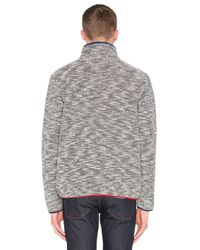 Altru - Blue French Terry Funnel Neck Jacket for Men - Lyst