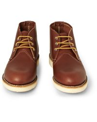 Red Wing - Brown Work Chukka Rubbersoled Leather Boots for Men - Lyst