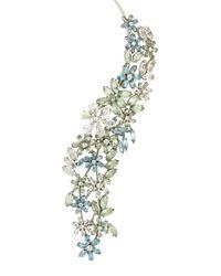 BCBGMAXAZRIA - Blue Stone Floral Necklace - Lyst
