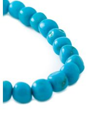 Loree Rodkin - Blue Diamond And Turquoise Beaded Bracelet - Lyst