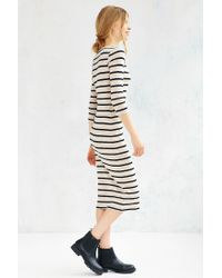 BDG | White Striped Knit Midi Dress | Lyst