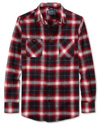 American Rag | Red Chilly Plaid Flannel Shirt for Men | Lyst