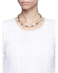 Valentino - Metallic 'Rockstud' Strass Necklace - Lyst